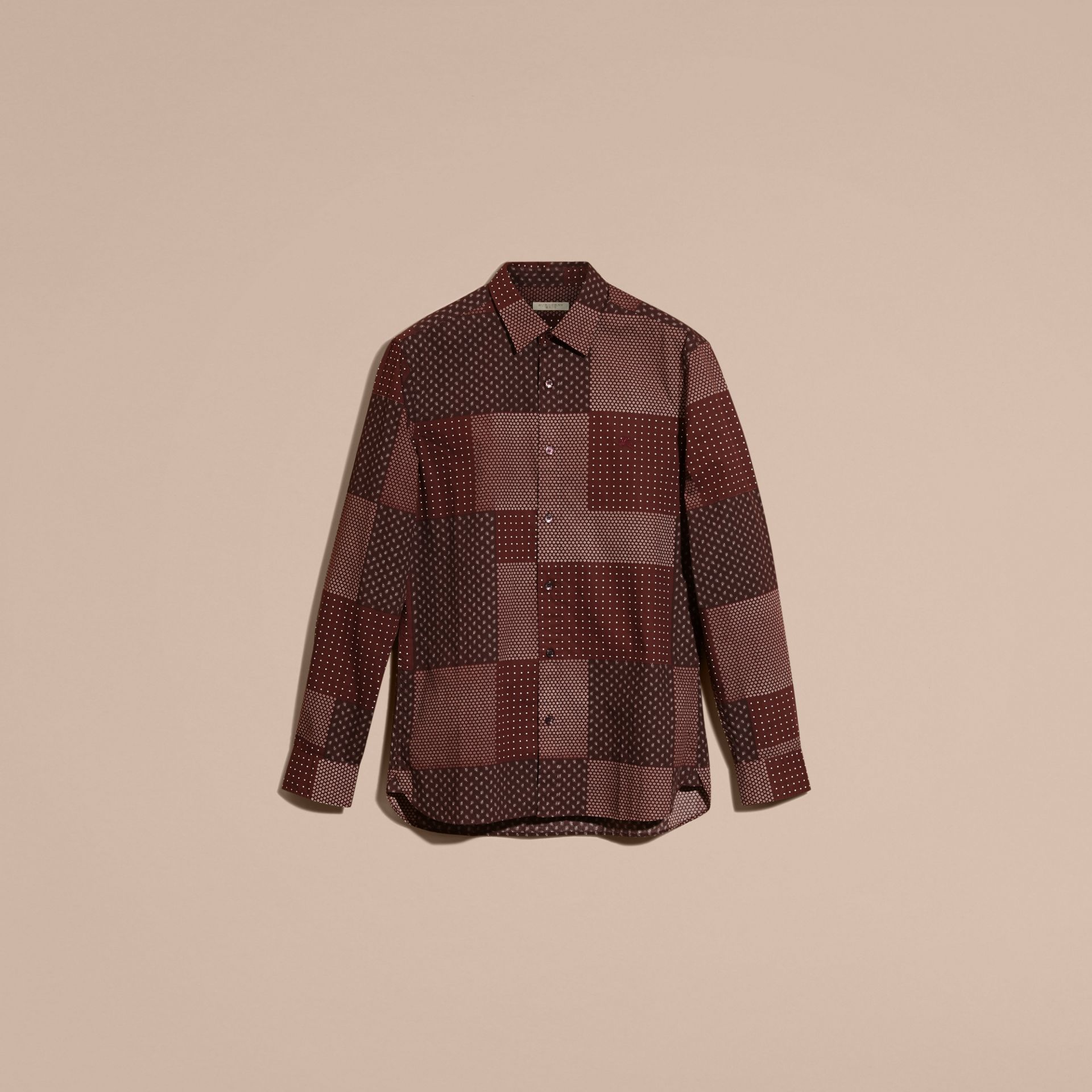 Dark elderberry Patchwork Print Cotton Shirt Dark Elderberry - gallery image 4