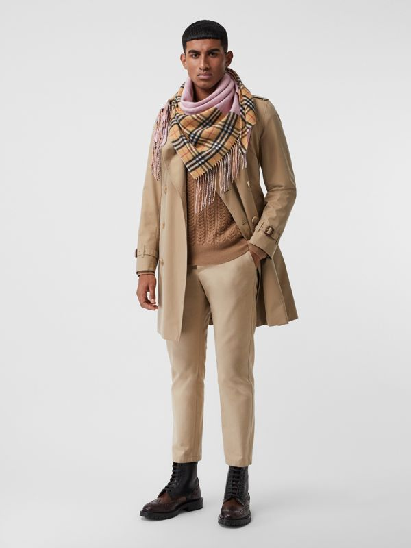 The Burberry Bandana in Vintage Check Cashmere in Pale Rose | Burberry Canada - cell image 3