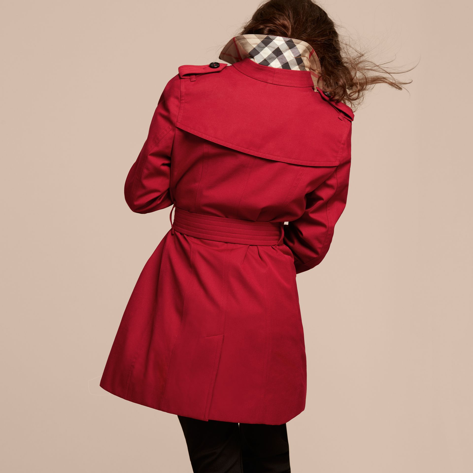 The Sandringham – Heritage Trench Coat in Parade Red - gallery image 4