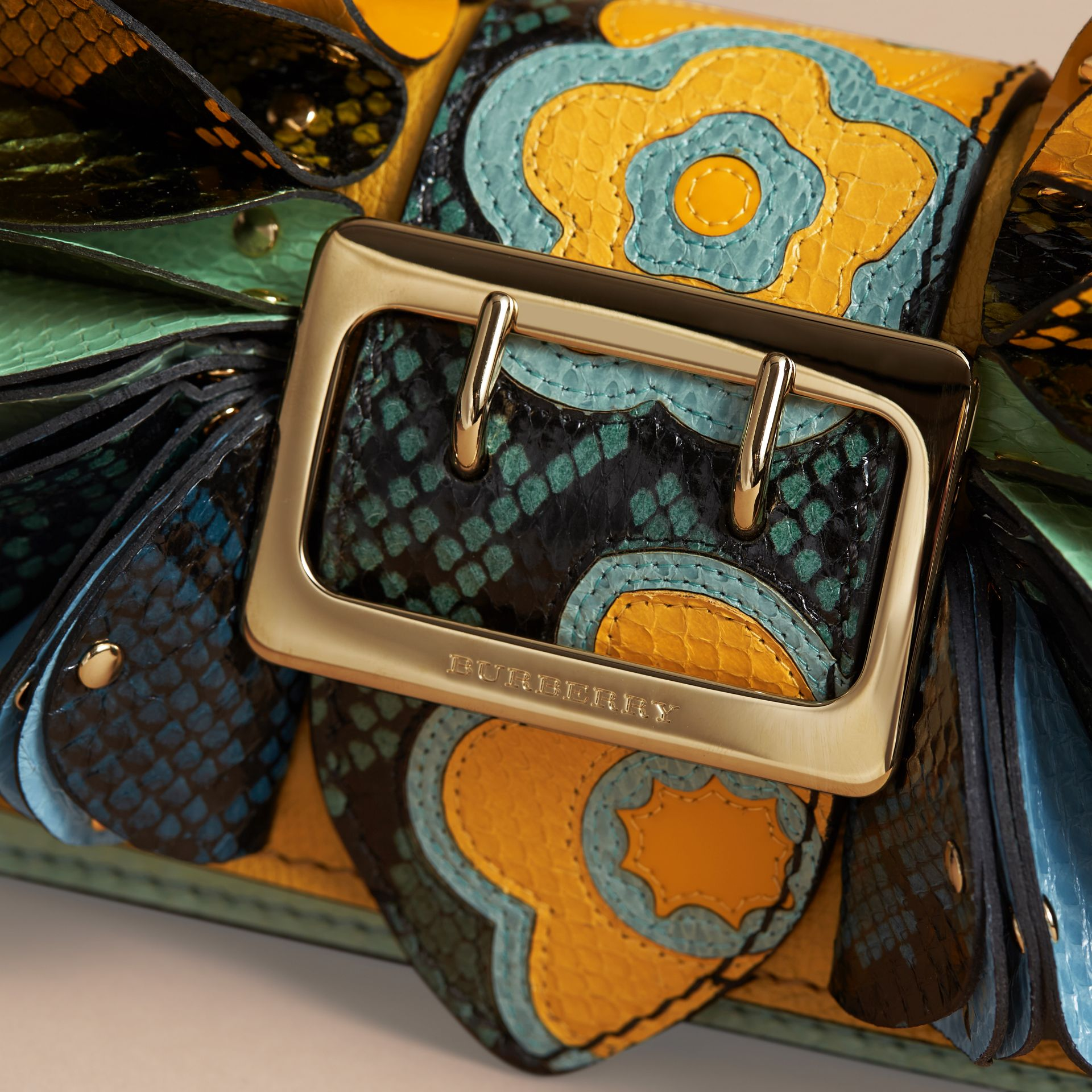 The Ruffle Buckle Bag in Snakeskin and Calf Leather - gallery image 2