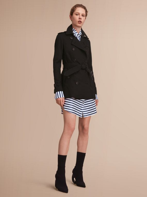 The Kensington – Short Heritage Trench Coat Black