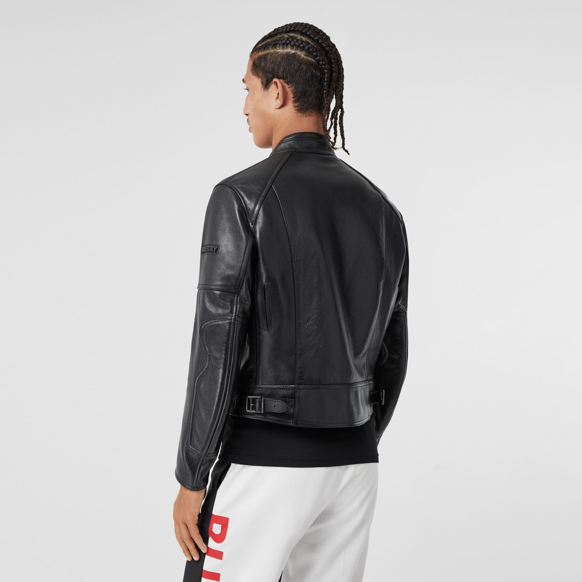 Leather Bomber Jacket in Black - Men   Burberry - gallery image 2