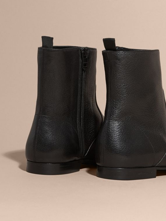 Black Leather Ankle Boots - cell image 3