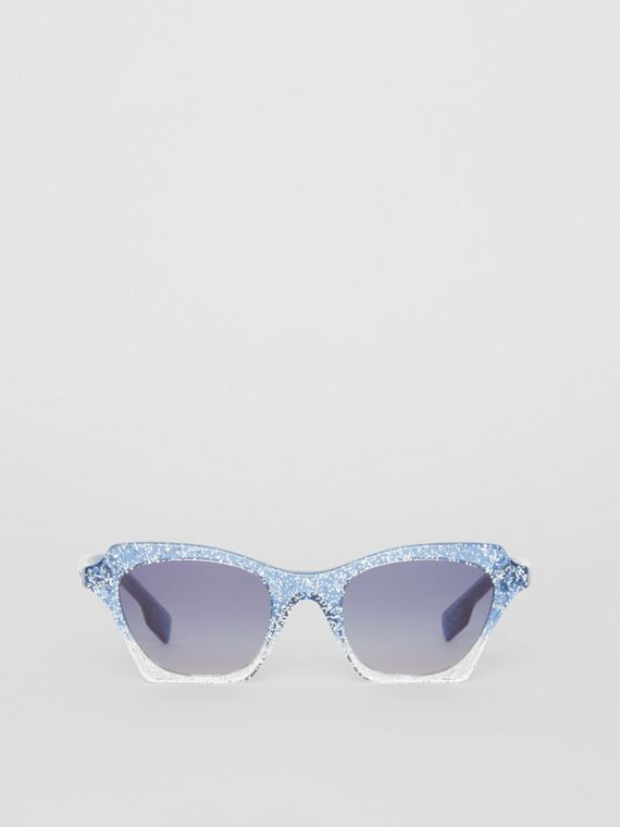 Butterfly Frame Sunglasses in Blue