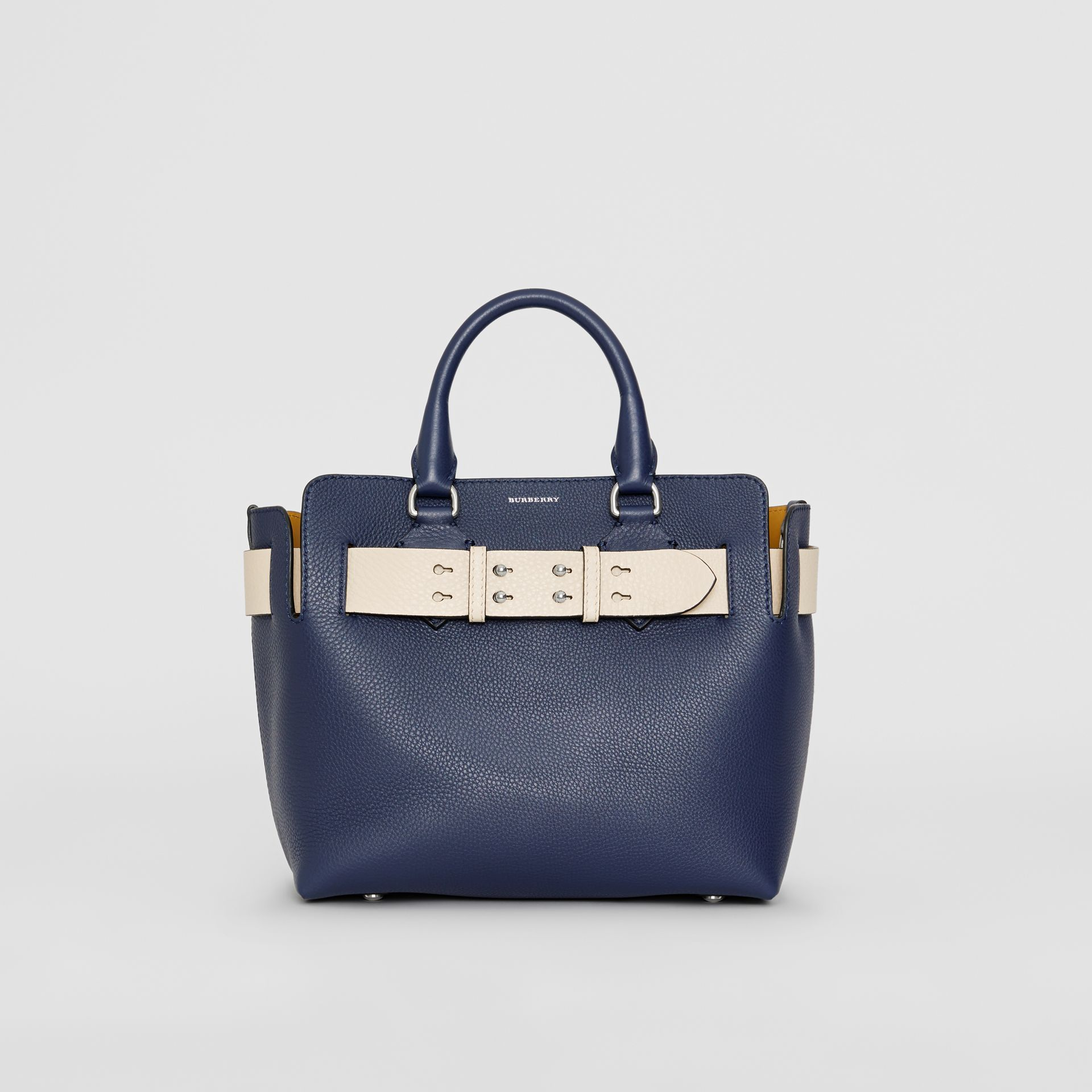 The Small Leather Belt Bag in Regency Blue - Women | Burberry - gallery image 0