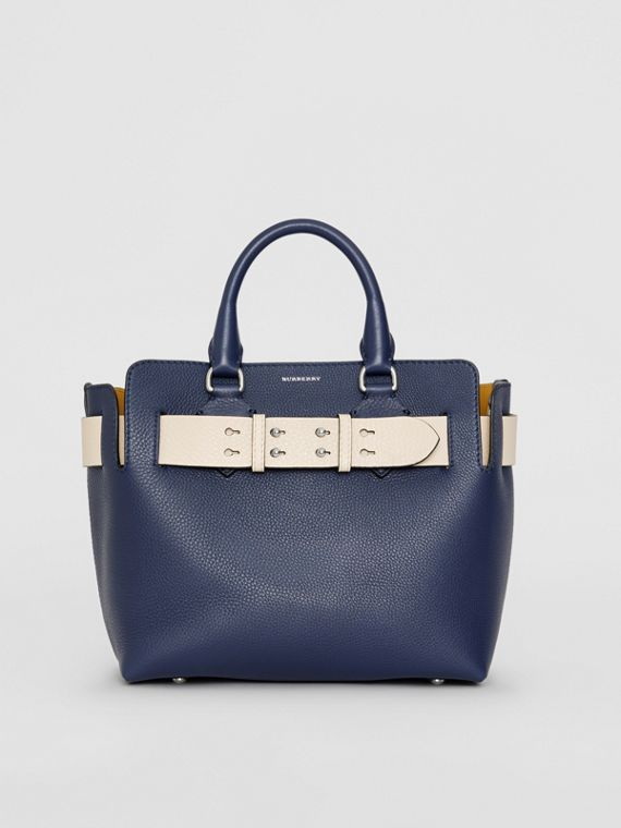 Borsa The Belt piccola in pelle (Blu Reggenza)