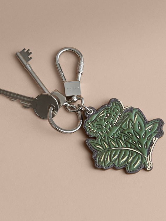 Beasts Leather Key Ring in Olive Green - cell image 2