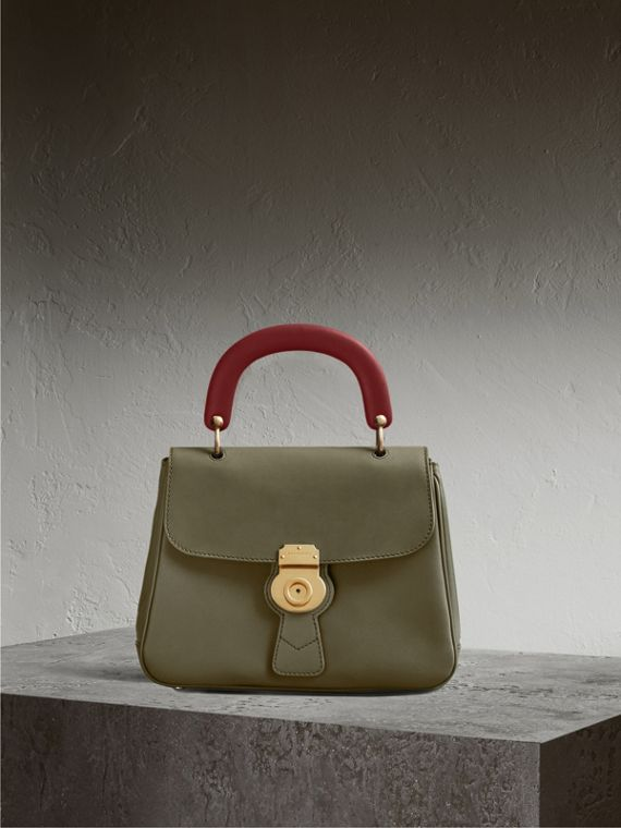 The Medium DK88 Top Handle Bag in Moss Green