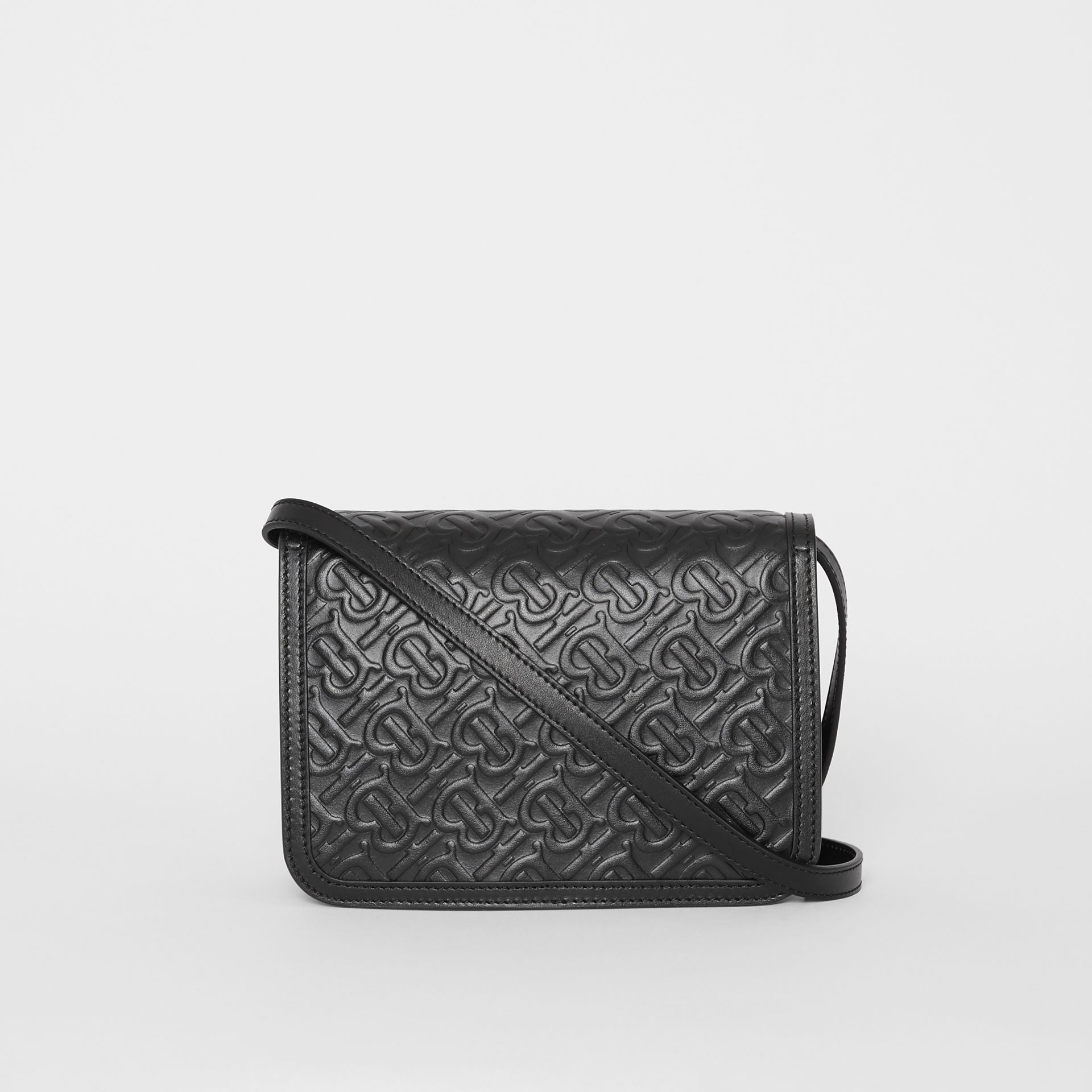 Small Monogram Leather TB Bag in Black - Women | Burberry United Kingdom - gallery image 7