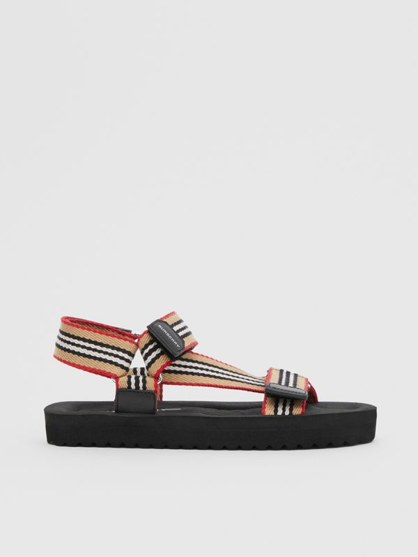 Icon Stripe Sandals in Archive Beige - Children | Burberry - cell image 3