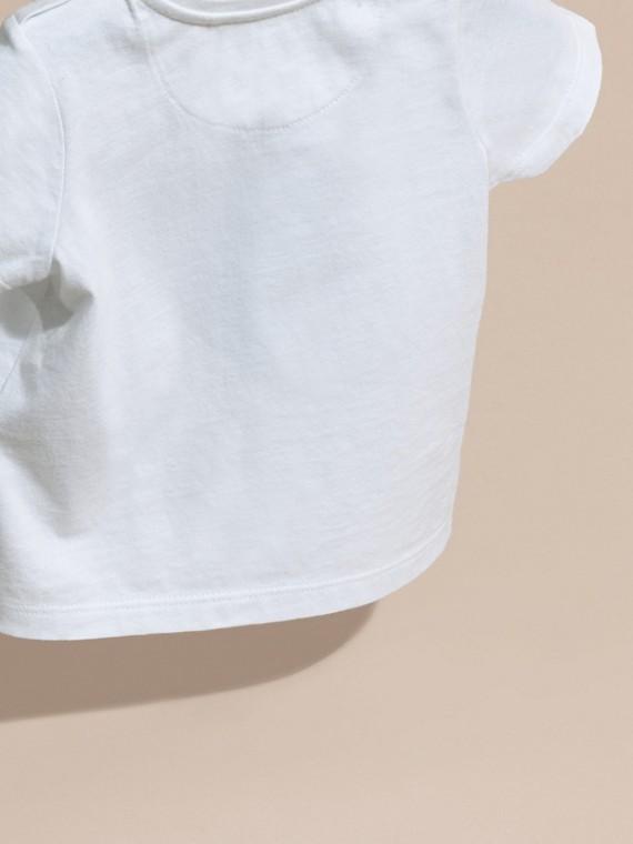 Noir T-shirt en coton avec imprimé à cœurs Noir - cell image 3