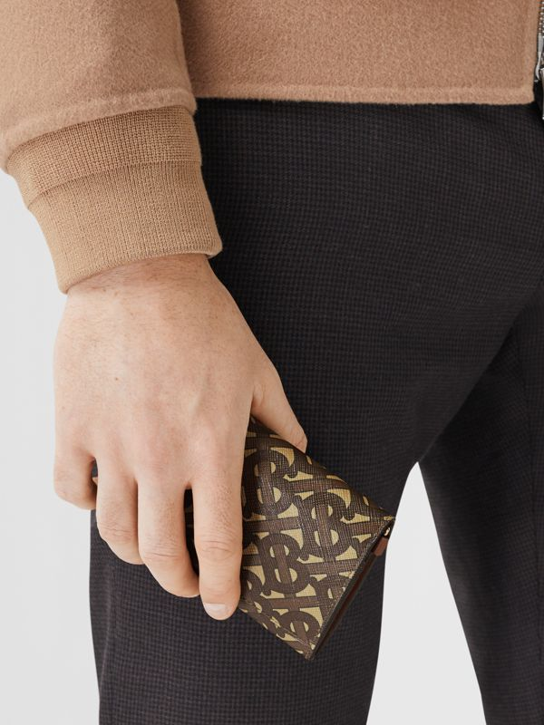 Small Monogram Print Wallet with Detachable Strap in Bridle Brown | Burberry - cell image 3