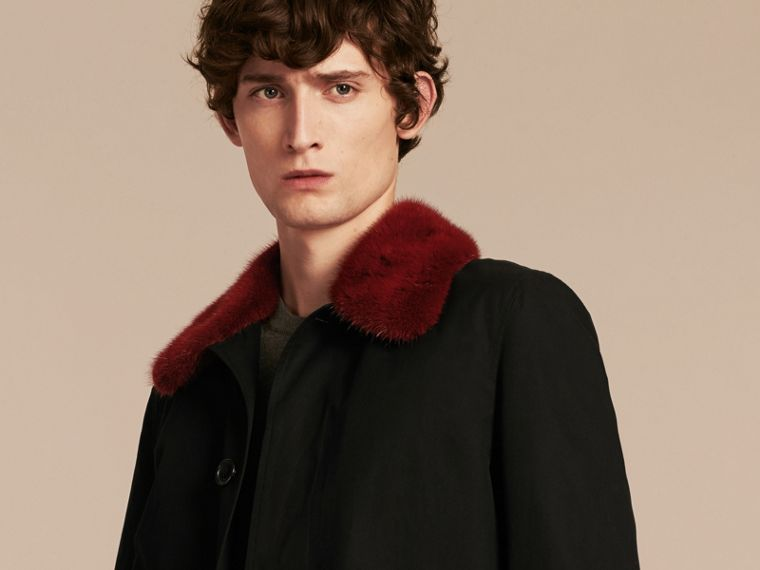 Car Coat with Detachable Mink Collar and Cashmere Warmer - cell image 4