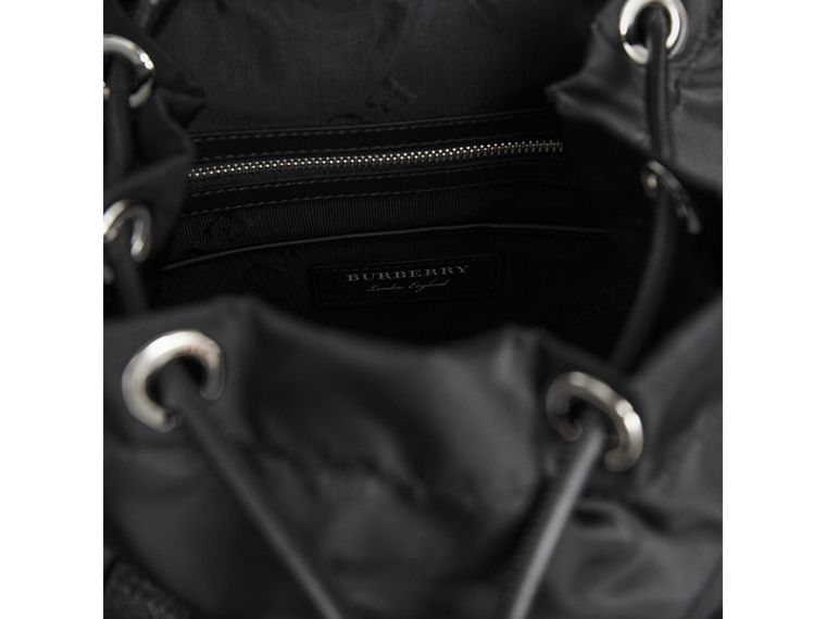 The Medium Rucksack in Nylon and Leather in Black/black - Women | Burberry Singapore - cell image 4