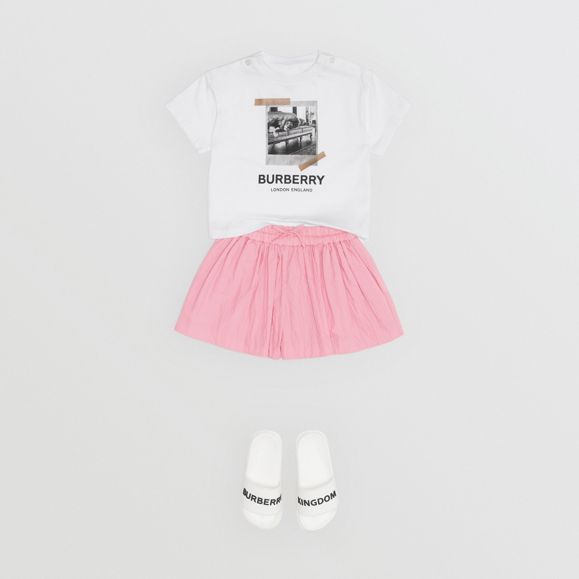 Vintage Polaroid Print Cotton T-shirt in White - Children | Burberry Australia - gallery image 2