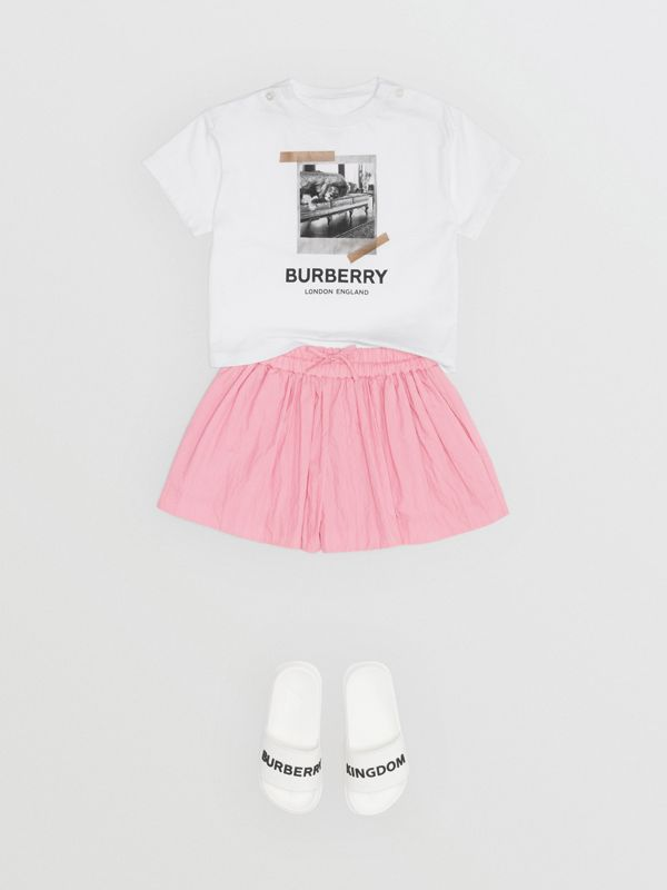 Vintage Polaroid Print Cotton T-shirt in White - Children | Burberry Australia - cell image 2