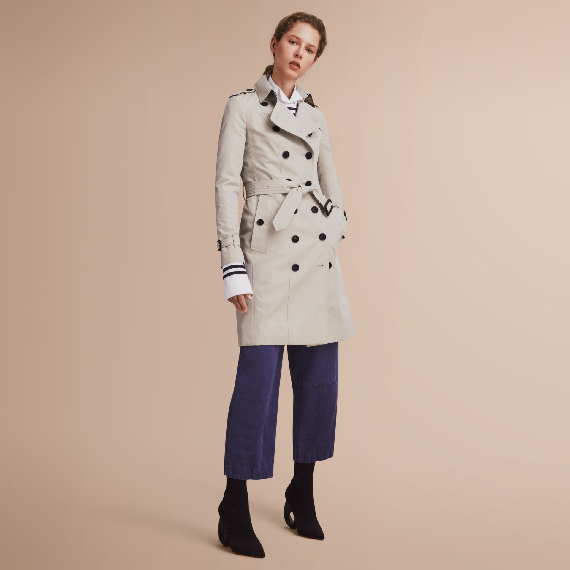 The Sandringham – Trench Heritage long (Stone) - Femme | Burberry - photo de la galerie 1