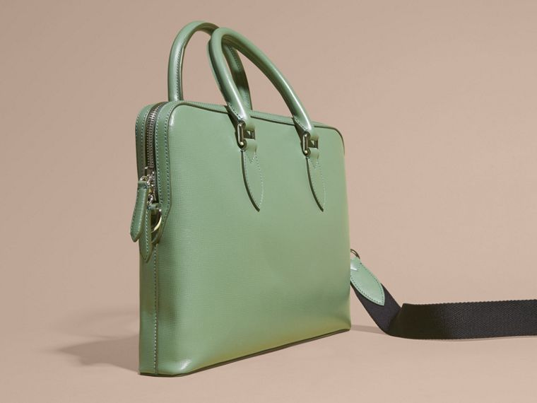 Sac The Barrow fin en cuir London Vert Antique - cell image 4