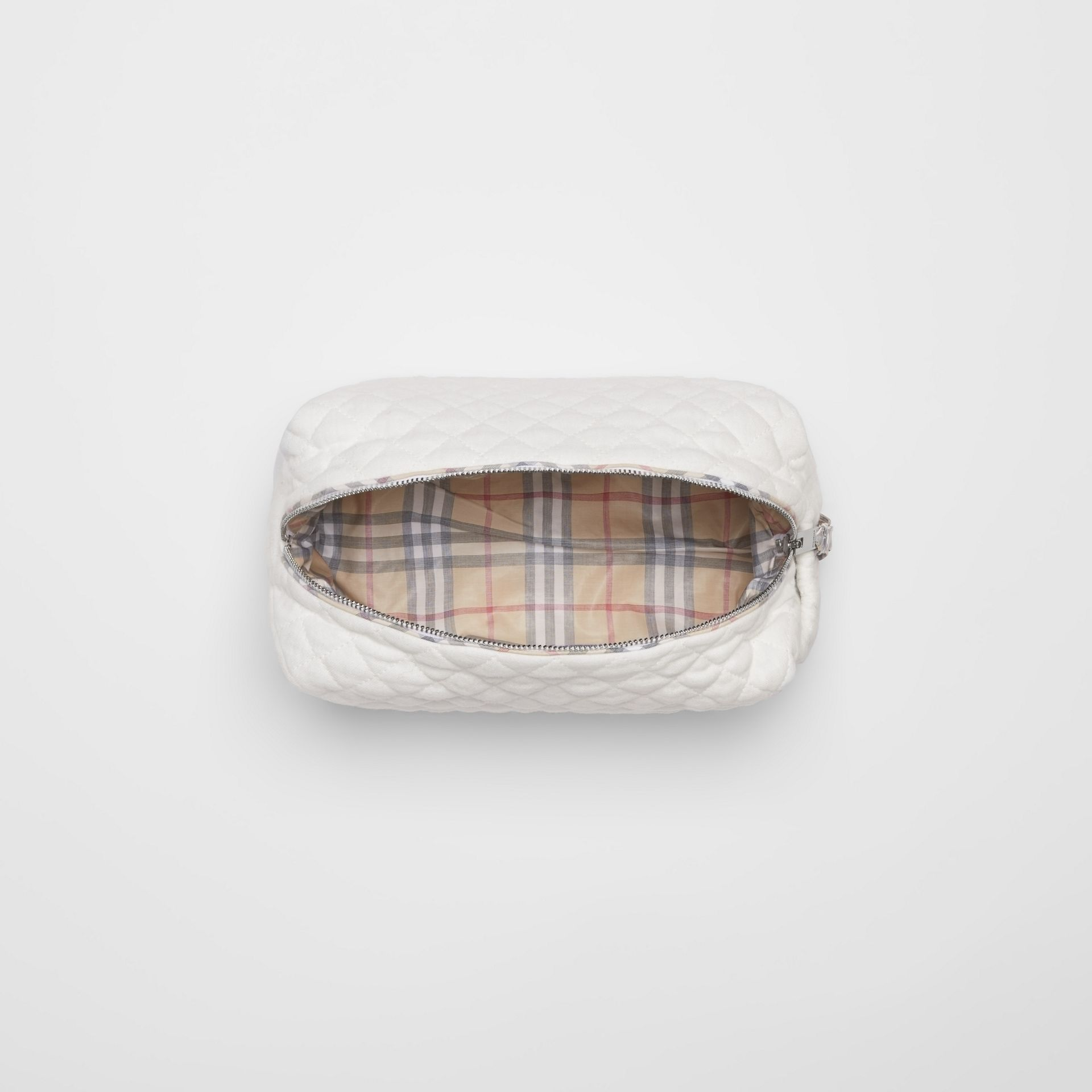 Check Detail Cotton Four-piece Baby Gift Set in White - Children | Burberry - gallery image 3