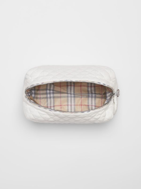 Check Detail Cotton Four-piece Baby Gift Set in White - Children | Burberry - cell image 3