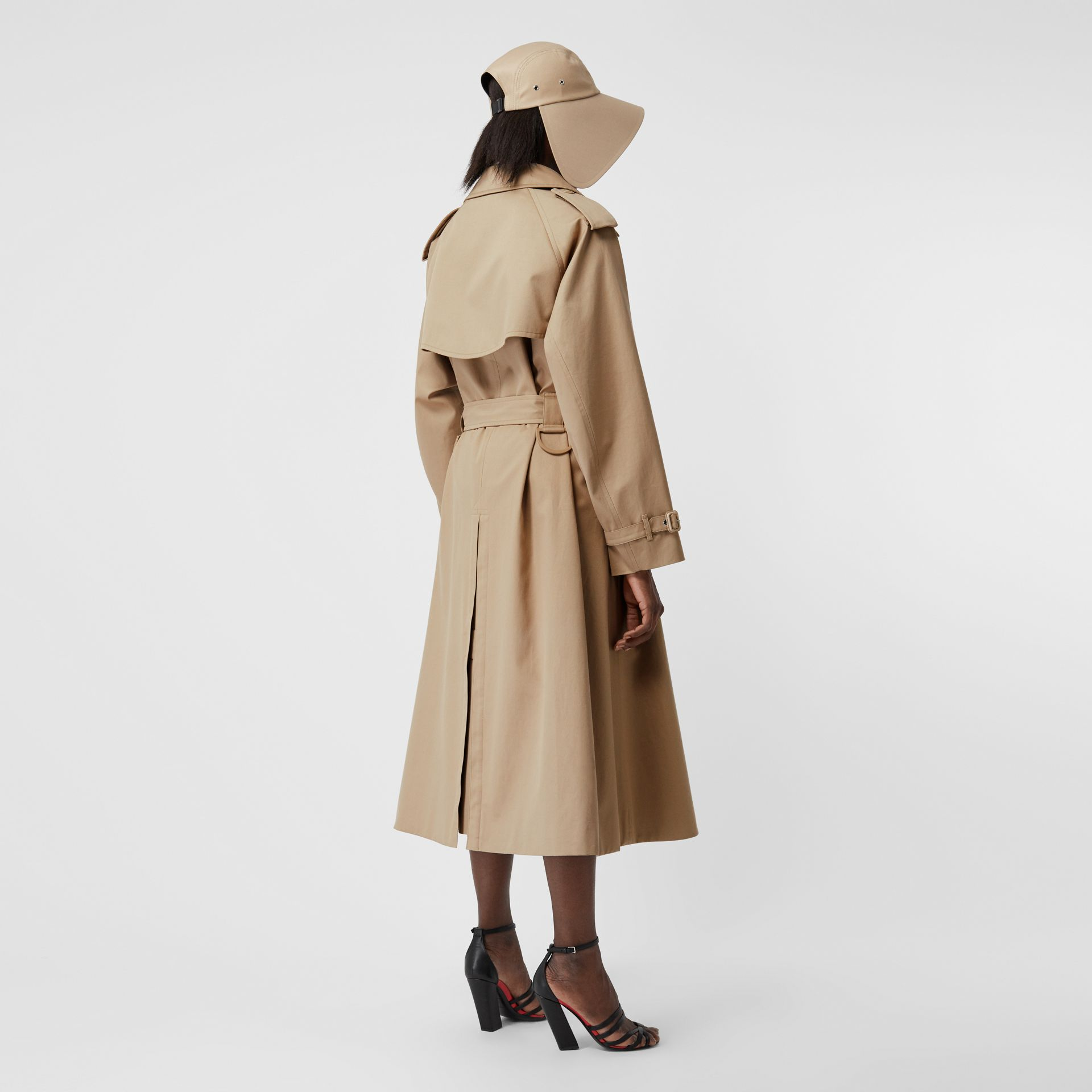Cotton Gabardine Step-through Trench Coat in Soft Fawn - Women | Burberry Australia - gallery image 2