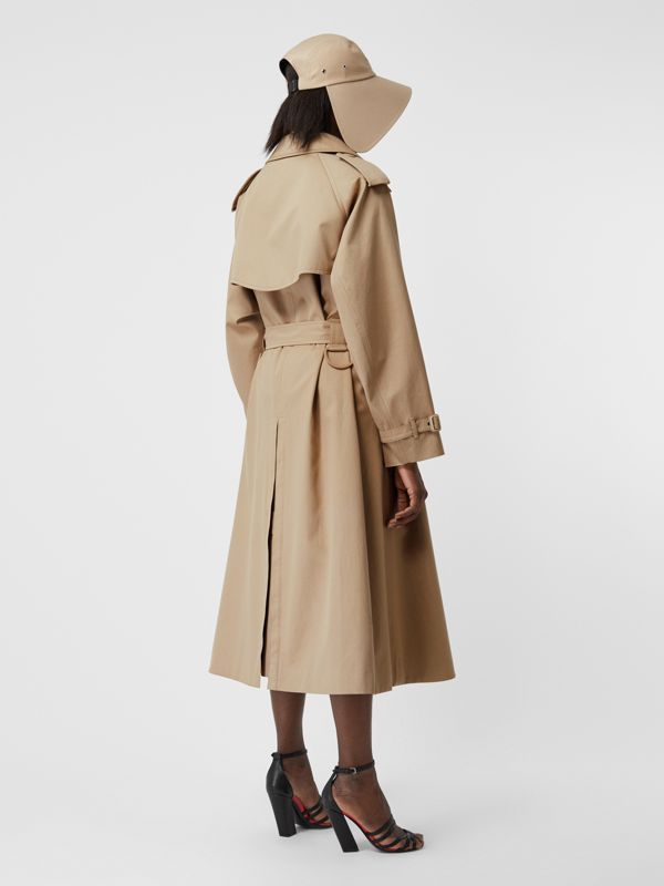 Cotton Gabardine Step-through Trench Coat in Soft Fawn - Women | Burberry Australia - cell image 2