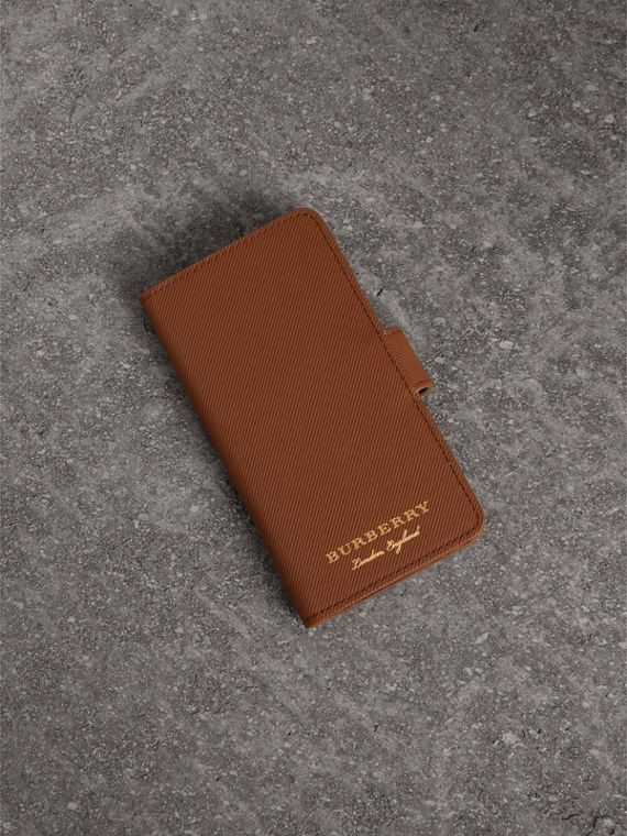iPhone 7-Etui aus Trench-Leder (Hellbraun)