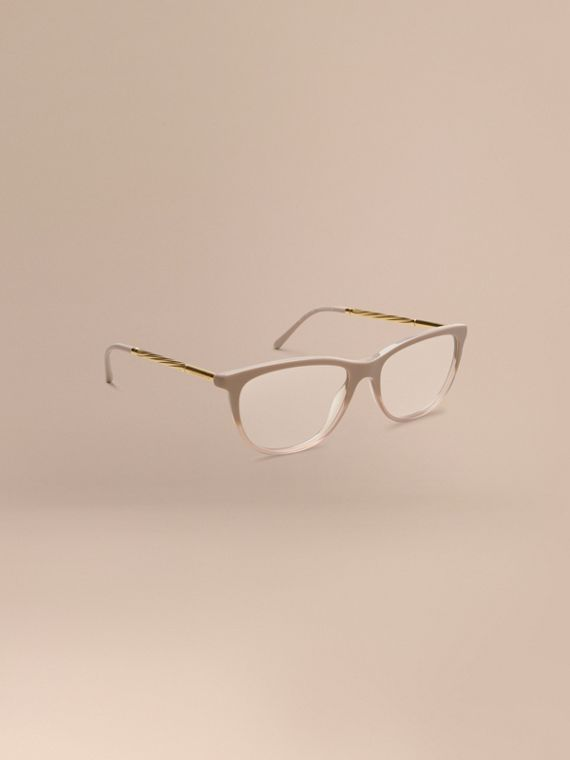 Gabardine Collection Cat-Eye Optical Frames Honey