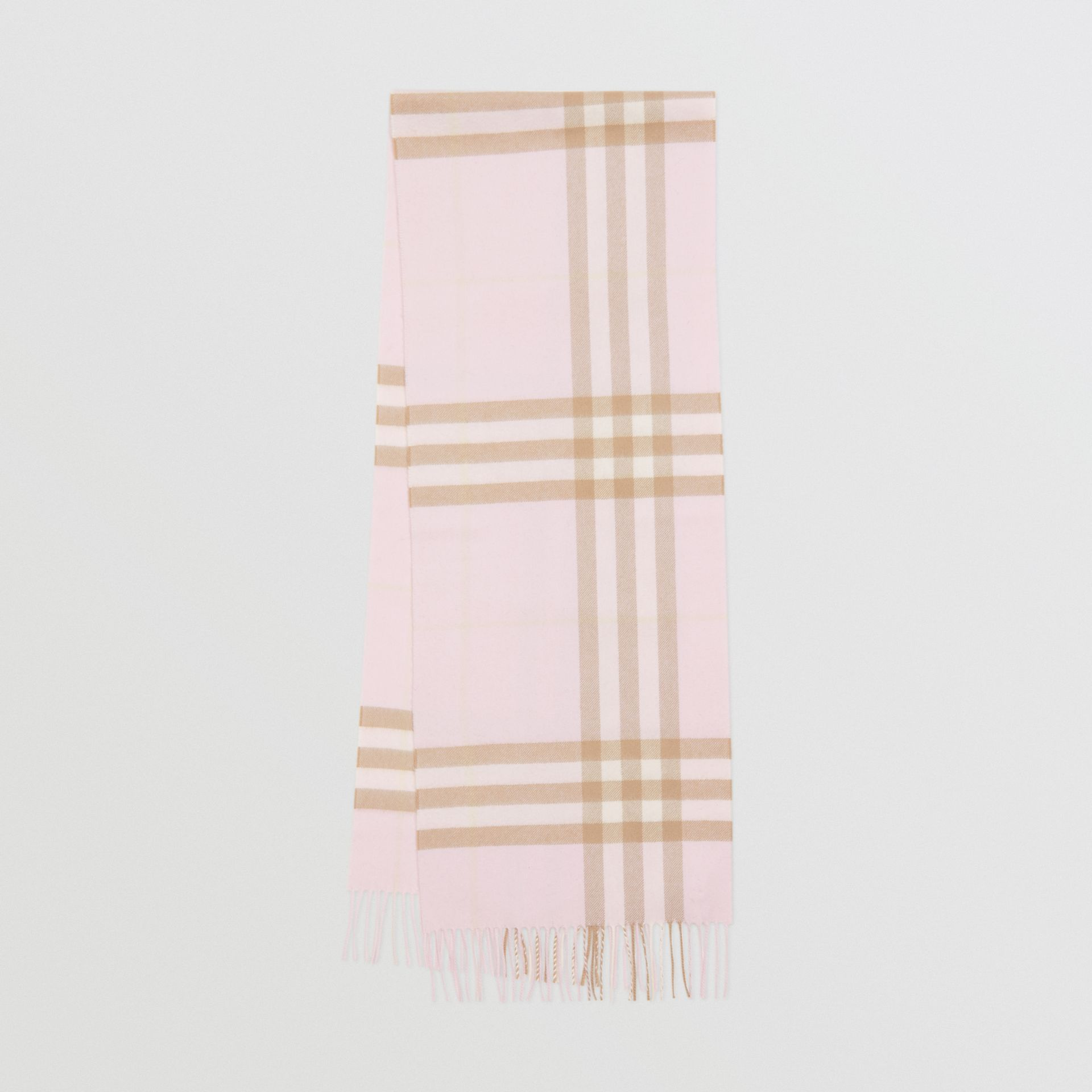 The Classic Check Cashmere Scarf in Alabaster | Burberry - gallery image 0