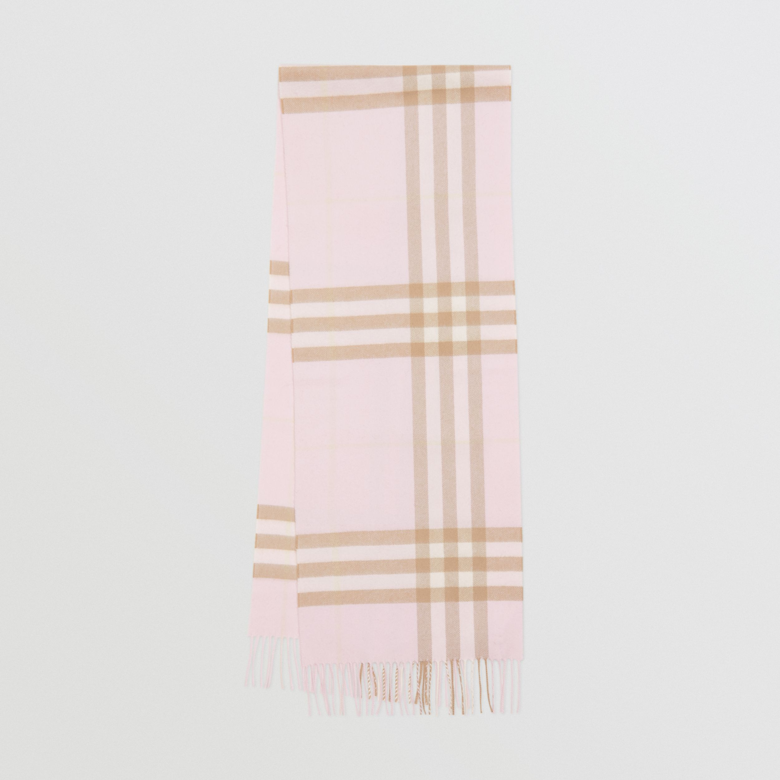 The Classic Check Cashmere Scarf in Alabaster | Burberry - 1