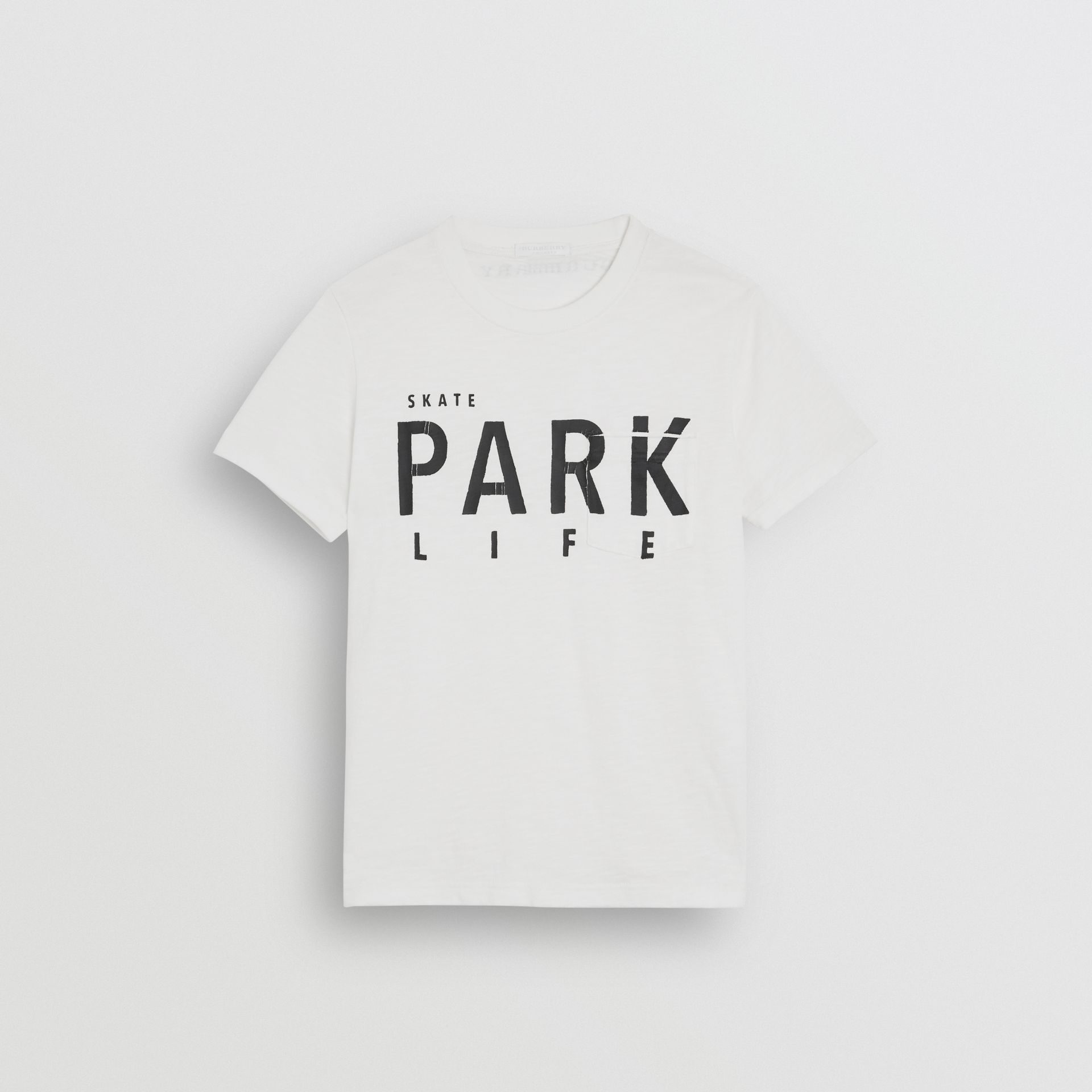 Skate Park Life Cotton T-shirt in White - Children | Burberry - gallery image 0