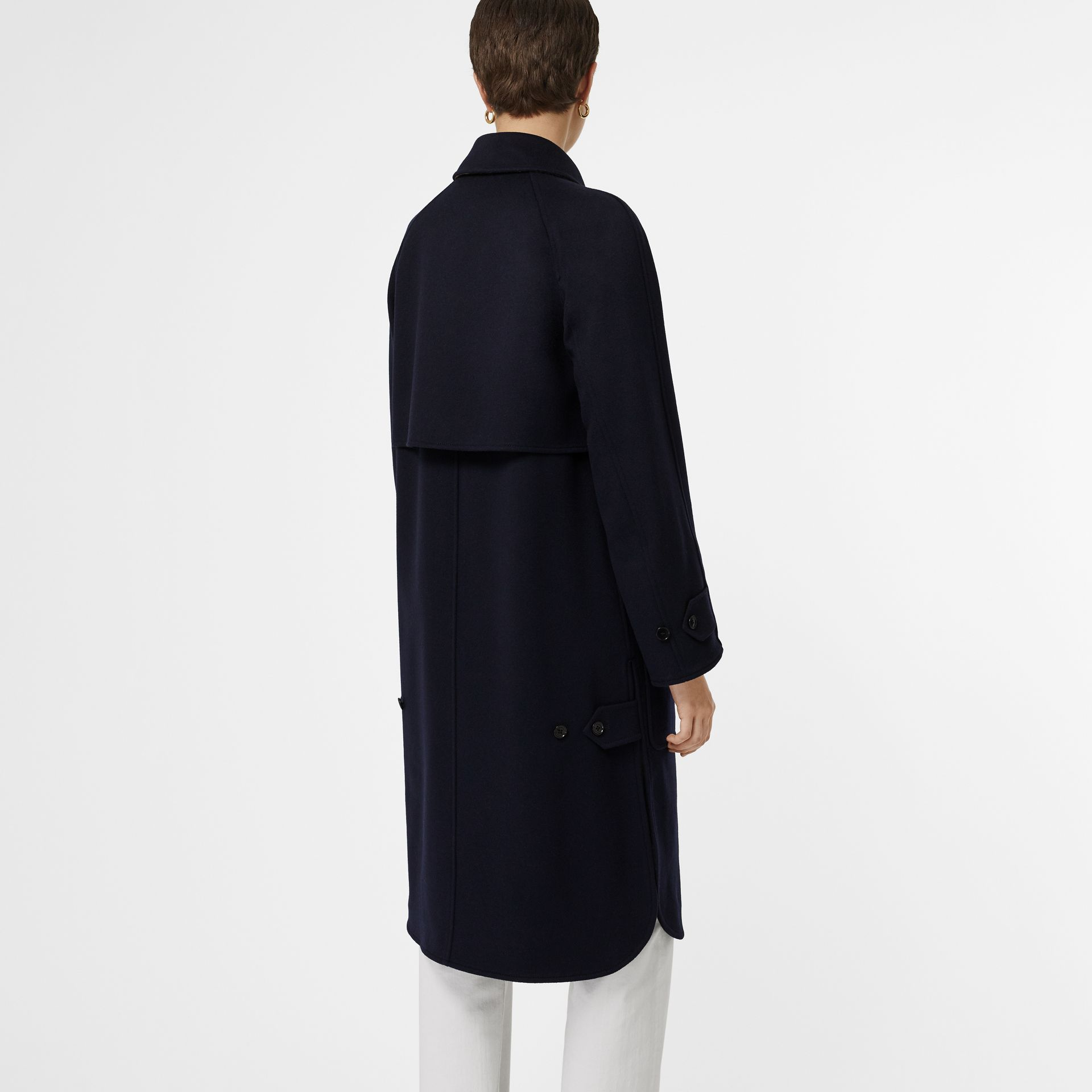 Cashmere Car Coat in Dark Ink Blue - Women | Burberry - gallery image 2