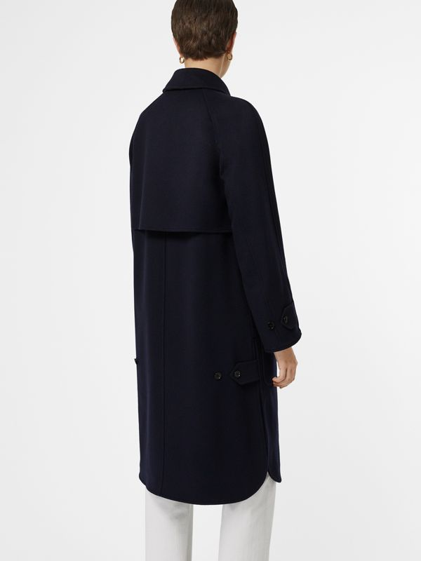 Cashmere Car Coat in Dark Ink Blue - Women | Burberry - cell image 2