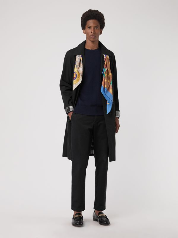 Foulard in seta con patchwork di motivi d'archivio (Multicolore) | Burberry - cell image 3