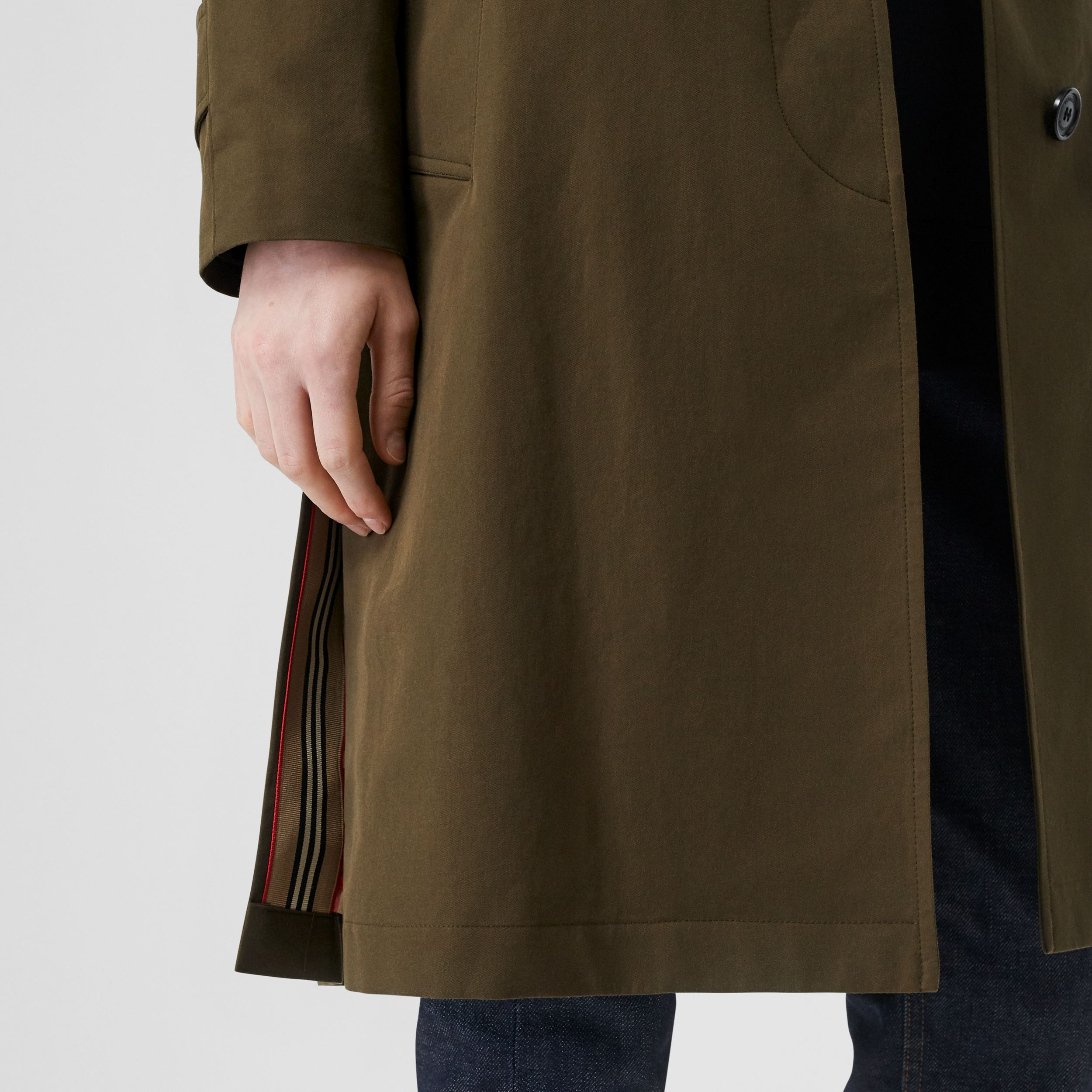 Tropical Gabardine Belted Car Coat in Black | Burberry - 3