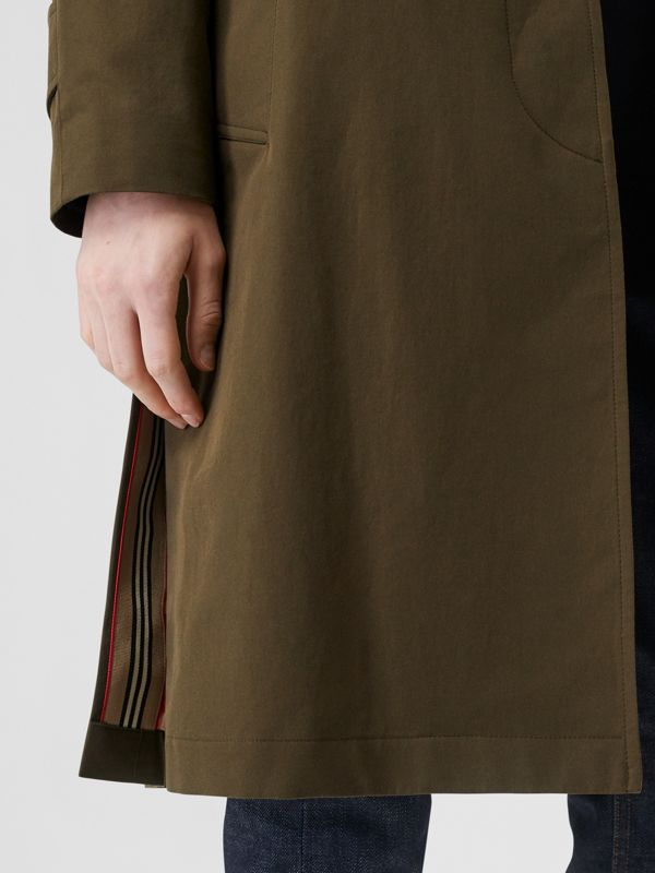Tropical Gabardine Belted Car Coat in Dark Military Khaki - Women | Burberry - cell image 2