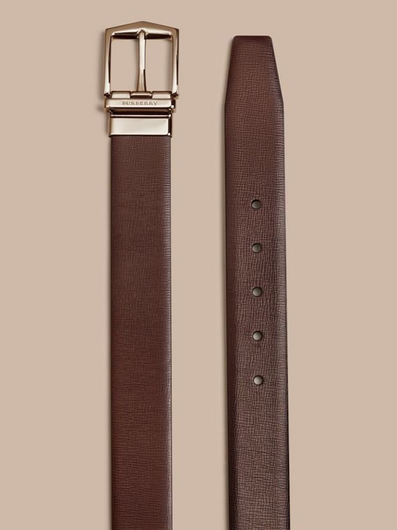 Wine/black Reversible London Leather Belt - cell image 2