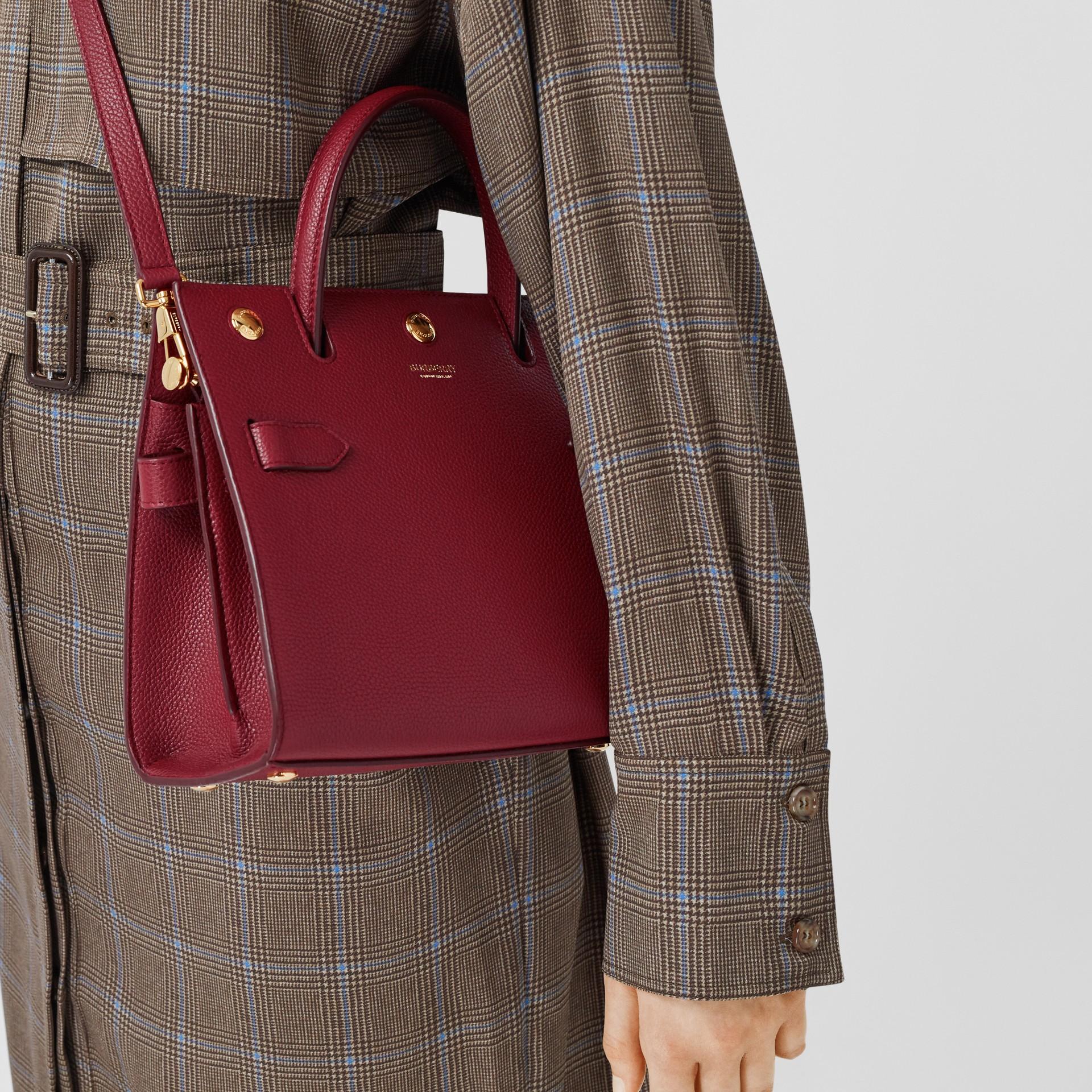 Mini Leather Title Bag in Dark Crimson - Women | Burberry United Kingdom - gallery image 8