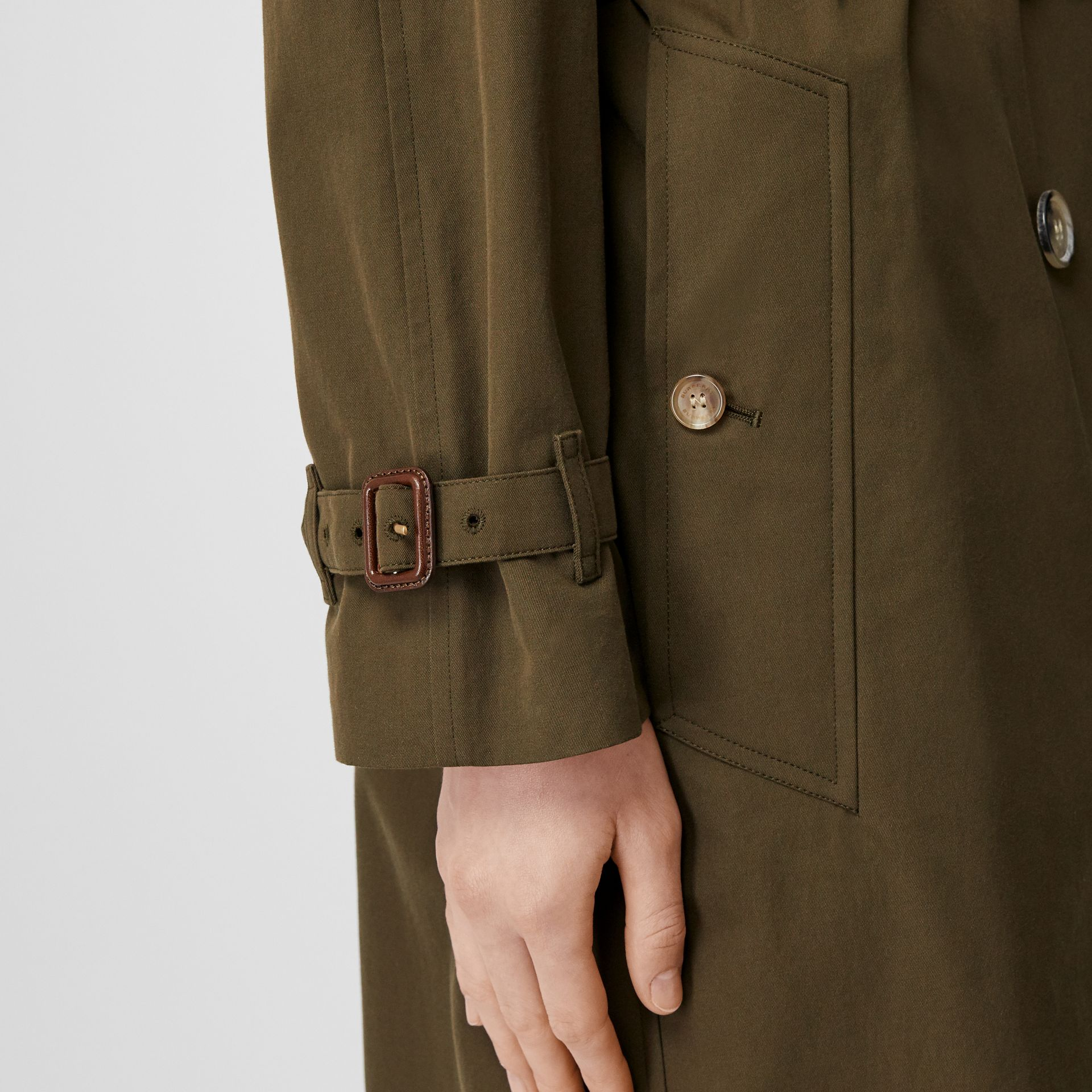 The Long Westminster Heritage Trench Coat in Dark Military Khaki - Women | Burberry - gallery image 5