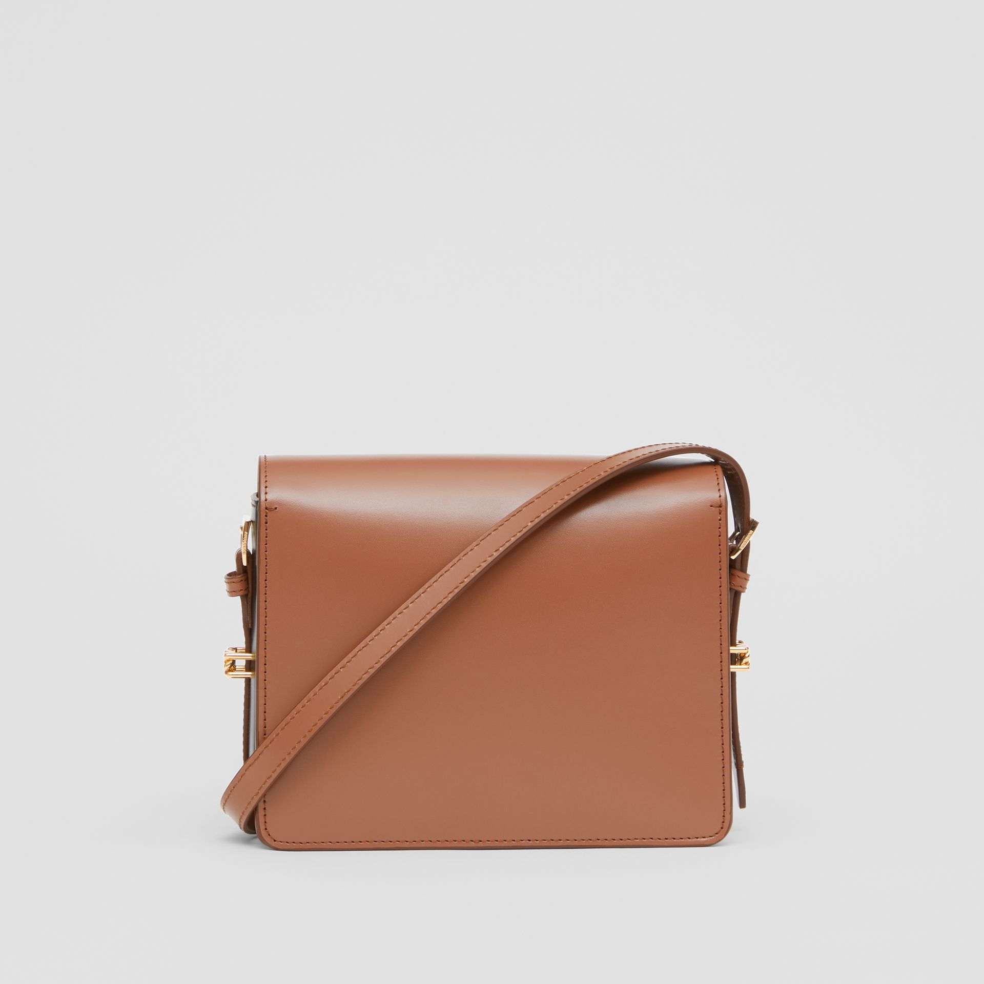 Small Two-tone Leather Grace Bag in Malt Brown/black - Women | Burberry United States - gallery image 7
