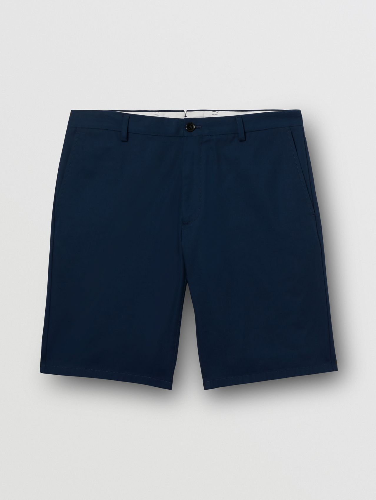 Logo Appliqué Cotton Twill Chino Shorts in Ink Blue