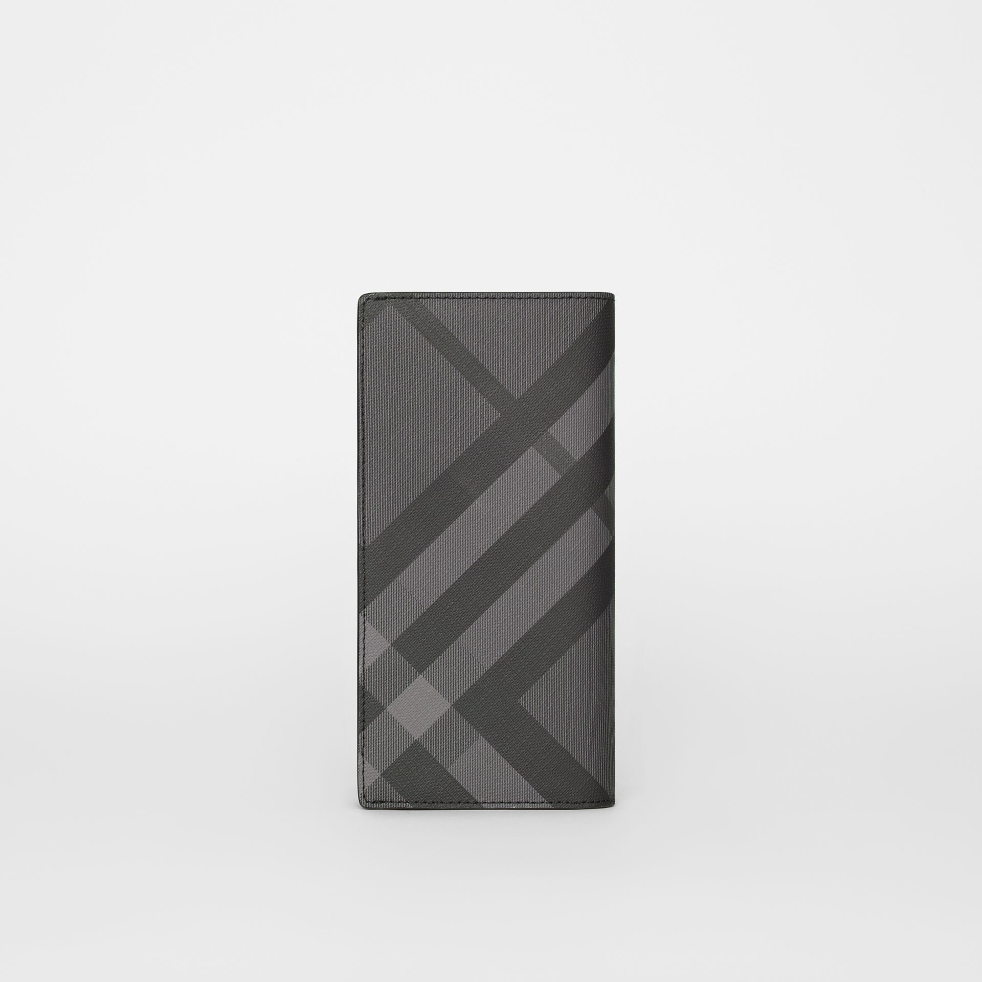 London Check and Leather Continental Wallet in Charcoal/black - Men | Burberry United Kingdom - gallery image 5