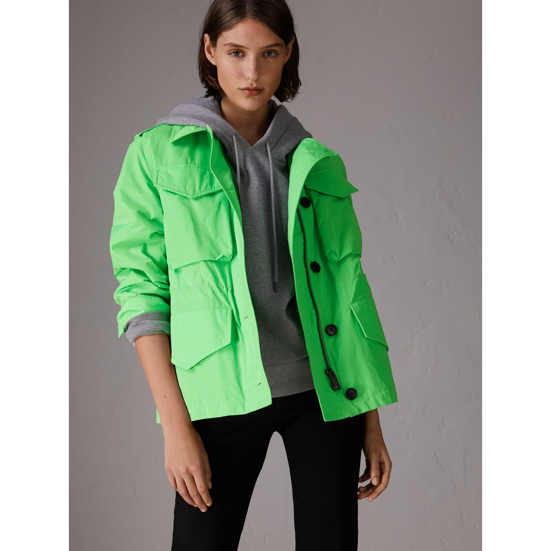 Taffeta Field Jacket in Neon Green | Burberry - gallery image 5