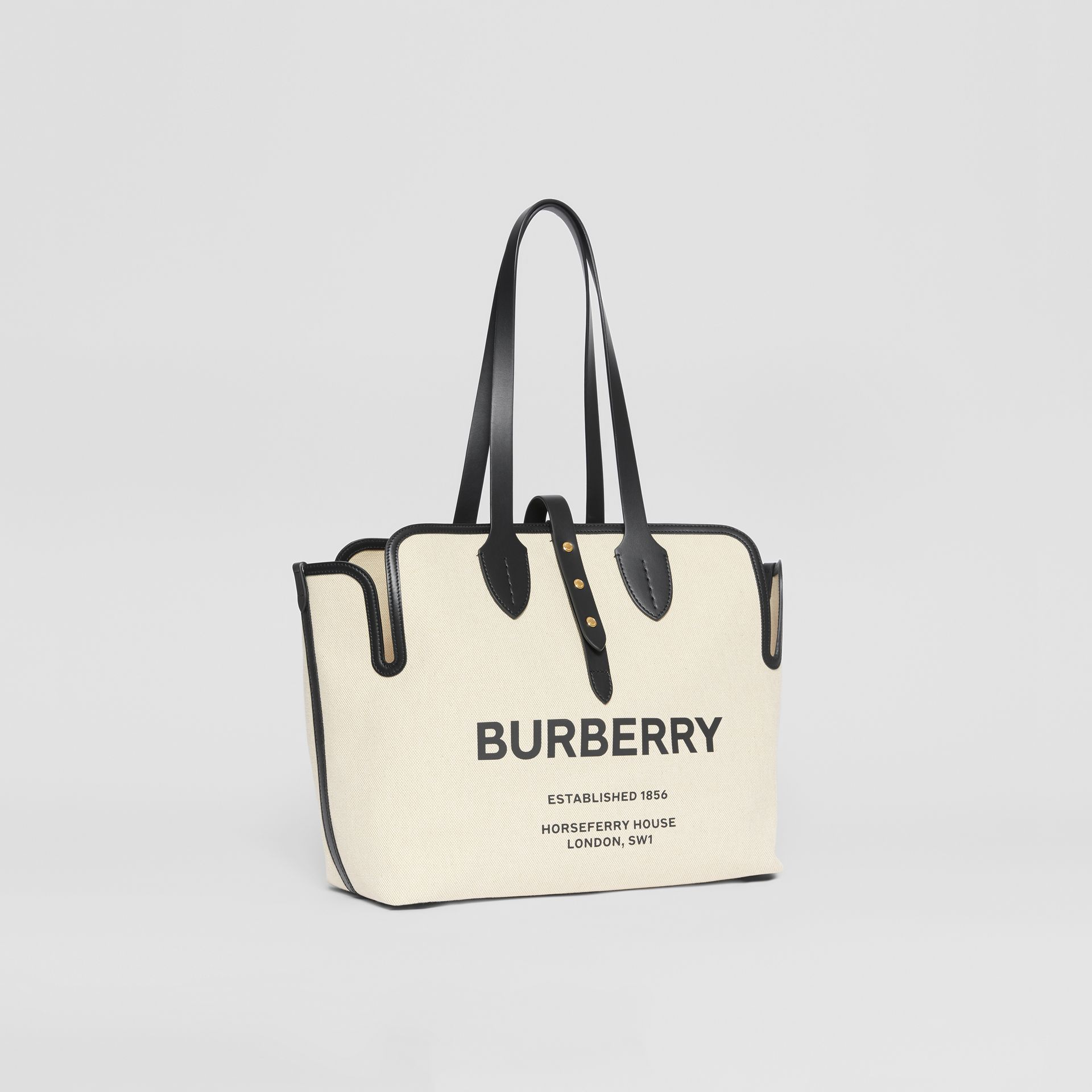 The Medium Soft Cotton Canvas Belt Bag in Black - Women | Burberry United Kingdom - gallery image 5