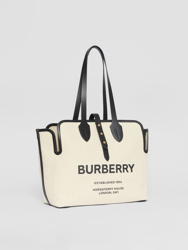 The Medium Soft Cotton Canvas Belt Bag in Black - Women | Burberry - cell image 3
