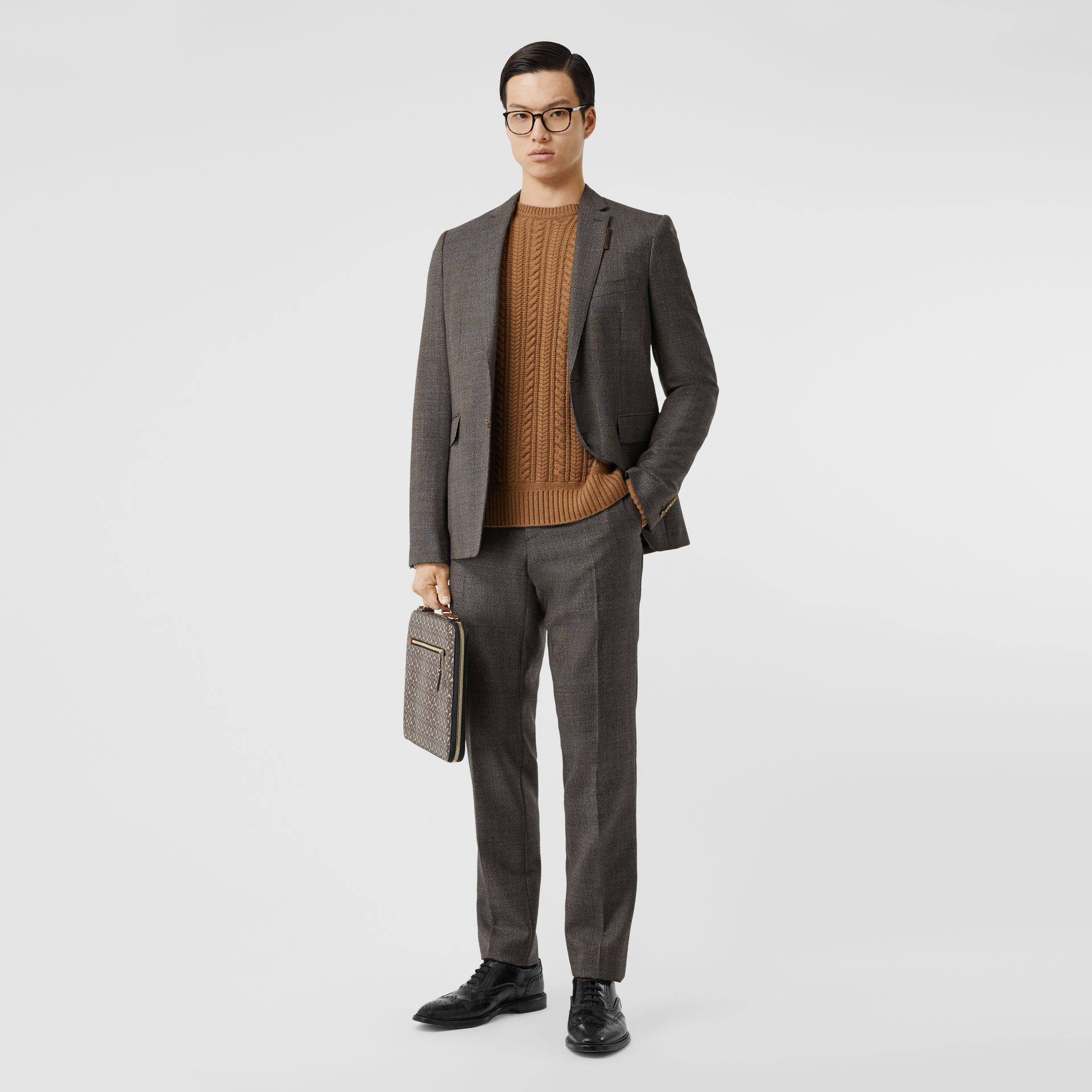 Cable Knit Cashmere Sweater in Maple - Men | Burberry - gallery image 4