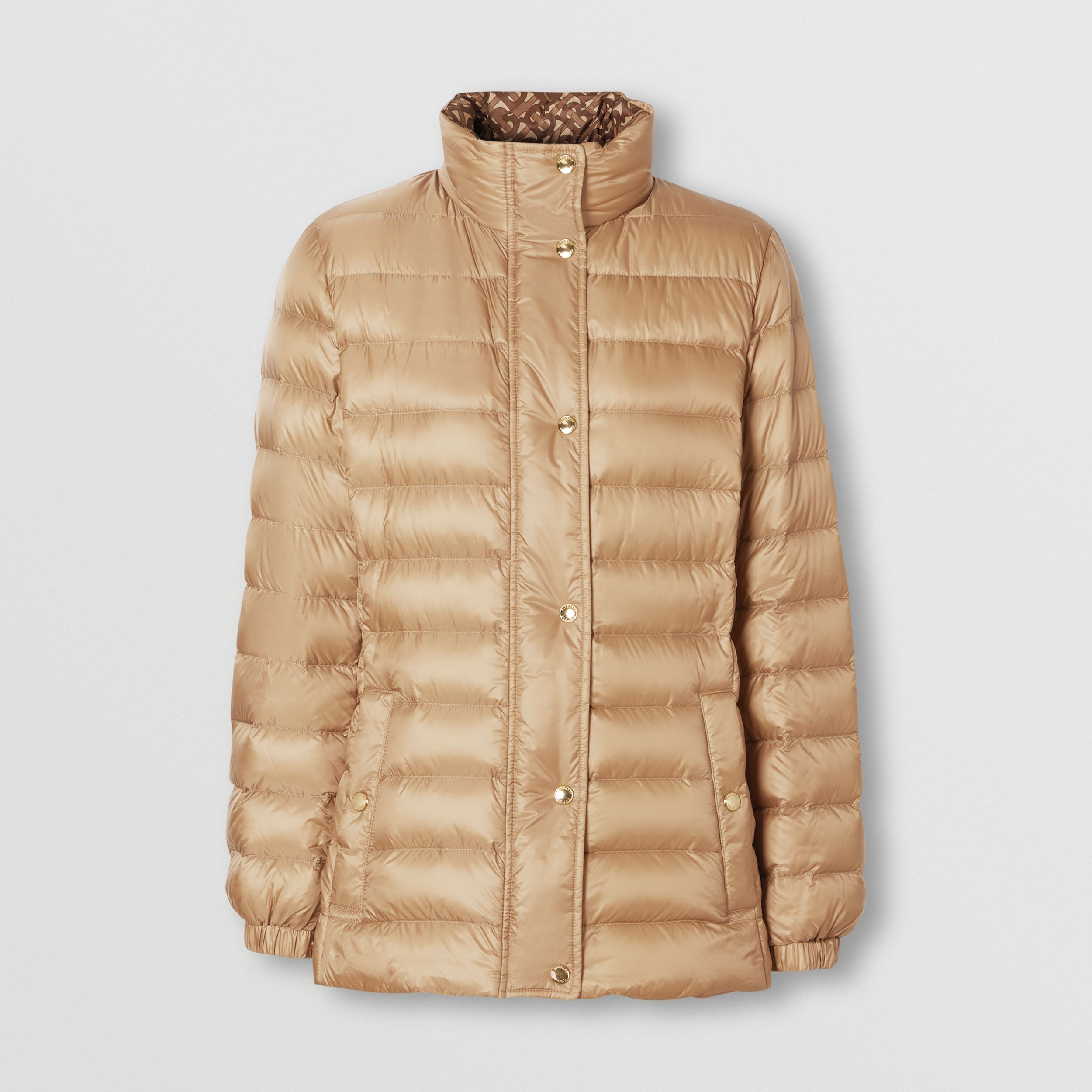 Monogram Print-lined Lightweight Puffer Jacket - Women | Burberry - 4