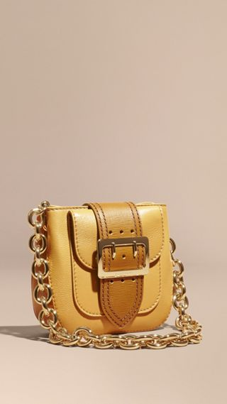 Borsa The Buckle quadrata piccola in pelle
