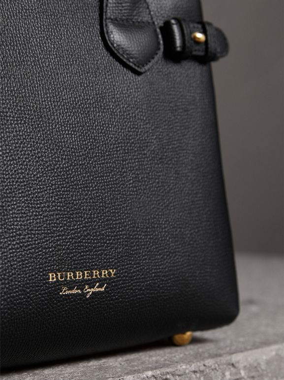 The Small Banner aus Leder und House Check-Gewebe (Schwarz) - Damen | Burberry - cell image 1