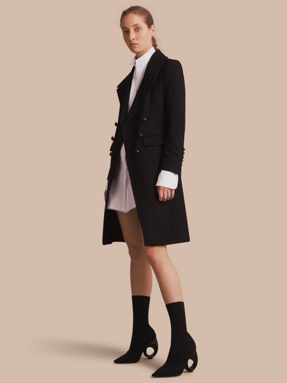 Wool Blend Double-breasted Coat - Women | Burberry Australia
